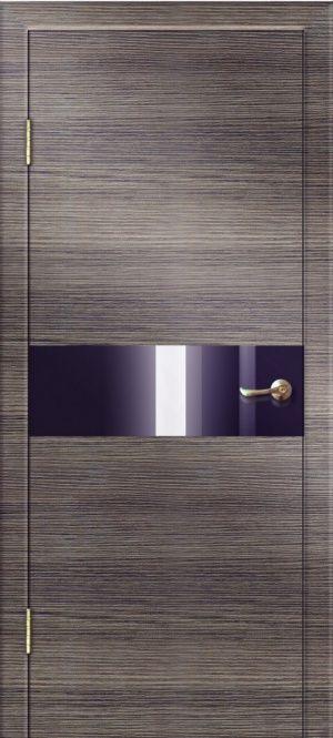 Дверь ДО-501 алюм.кромка ст. черное