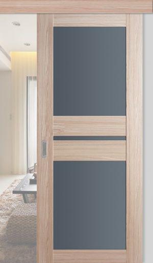 Дверь раздвижная 70X Капучино Мелинга ст. графит