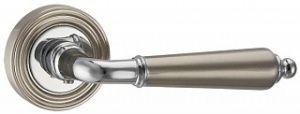 Дверная ручка PUNTO LIBRETTO ML SN/CP-3 матовый никель/хром