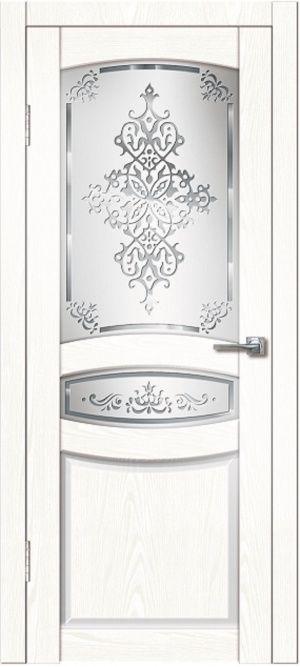 Гармония ясень белый со стеклом