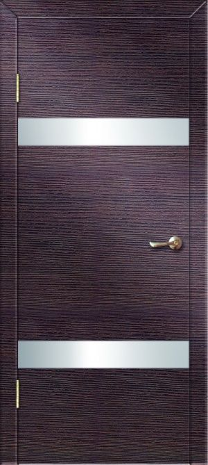 Дверь ДО-502 алюм.кромка ст матовое зеркало