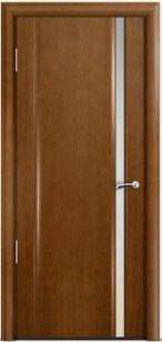 Дверь Омега 2 узкое триплекс белый