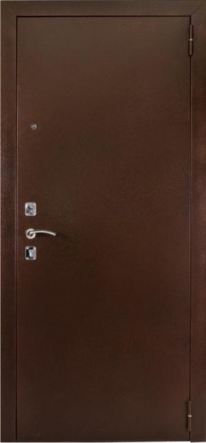 Входная дверь 67 зеркало миланский орех