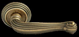 Дверная ручка RUCETTI RAP-CLASSIC-L 4 античная бронза