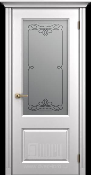 Дверь Корона 1 со стеклом эмаль