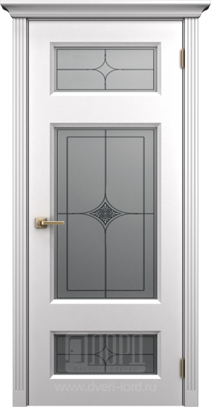 Дверь Корона 2 со стеклом эмаль