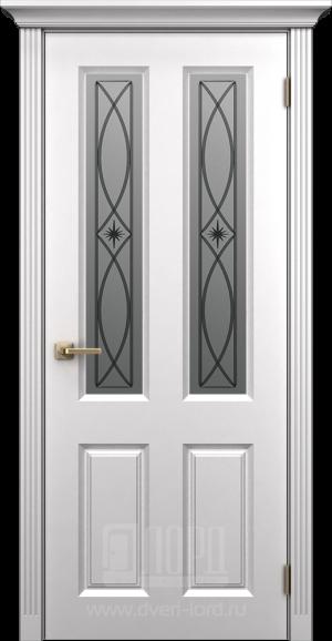 Дверь Корона 4 со стеклом эмаль