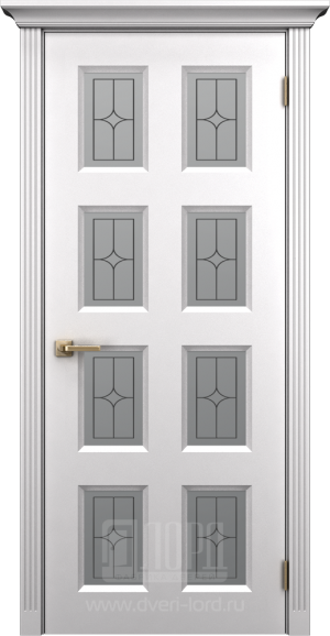Дверь Корона 5 со стеклом эмаль
