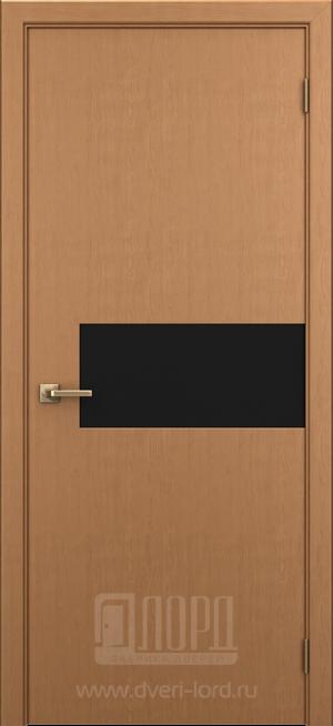 Дверь Соната ст. черный лакобель