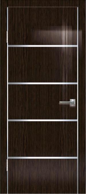 Дверь ДГ-505 алюм.кромка глянец