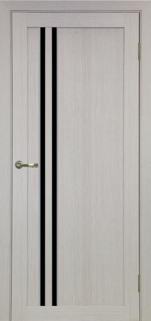 Дверь 525 АПС мат.хром черн. стекло
