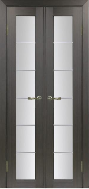 Дверь 501.2 АСС мат.хром двухстворчатая