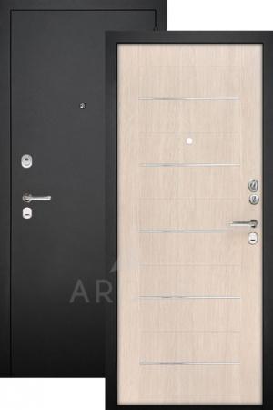 Входная дверь ДА-1 черный муар/капучино