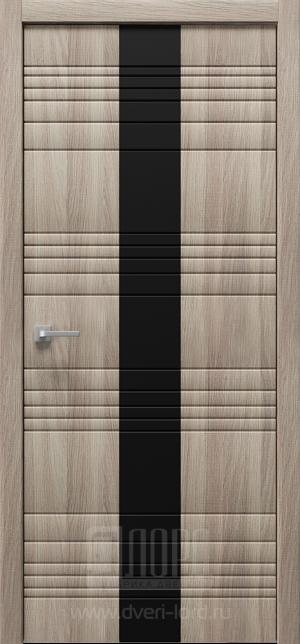 Дверь Альфа Z3 ст черное лакобель