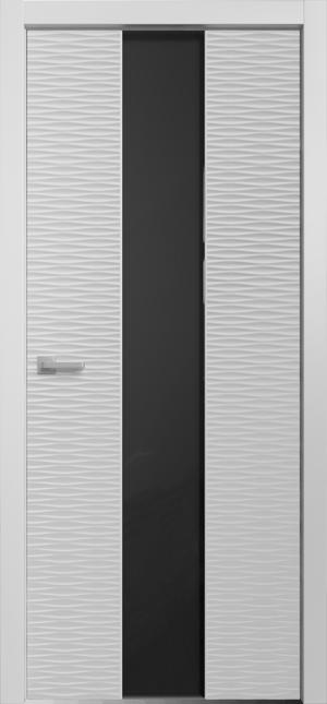 Дверь Альфа D4 ст черное лакобель