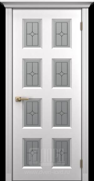 Дверь Корона 5 со стеклом, пвх