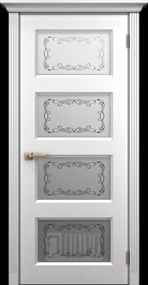 Дверь Корона 3 со стеклом, пвх
