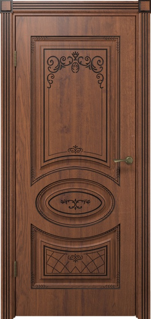 Дверь Вителия ДГ черная патина