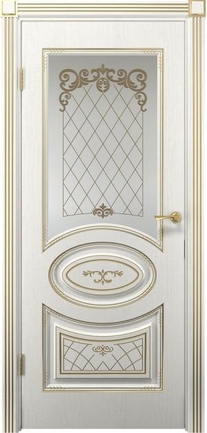 Дверь Вителия ДО патина золото ст. матовое