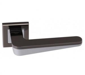 Дверная ручка ADDEN BAU ESPADA Q321 черный никель/хром с подсветкой