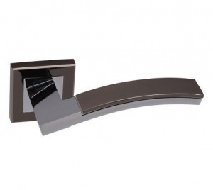 Дверная ручка ADDEN BAU OBRA Q330 черный никель/хром с подсветкой