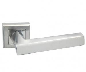 Дверная ручка ADDEN BAU  Q306 сатин/хром с подсветкой