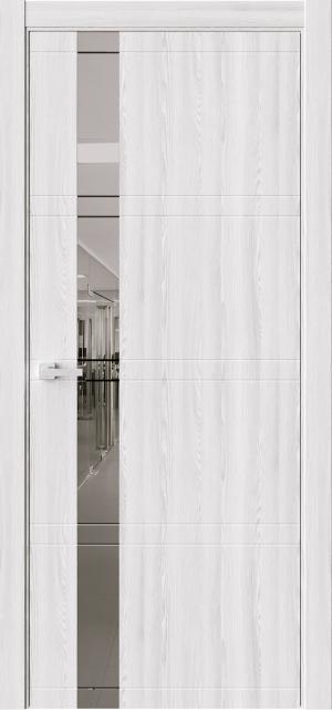 Дверь ЭВО 1 клен айс ст. зеркало графит