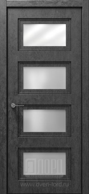 Дверь Монте 3-2 ст. сатинат матовый