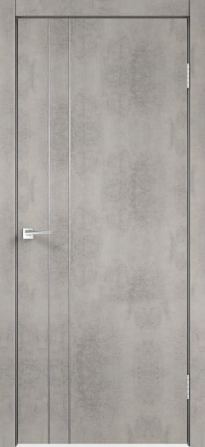 Дверь Техно М2 с алюминиевой кромкой с замком Морелли