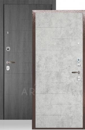 Сейф-дверь «ДА-24» Никсон бетон светлый/МДФ Никсон графит