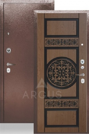 Сейф-дверь «ДА-28» Беатрис дуб светлый патина коричневая