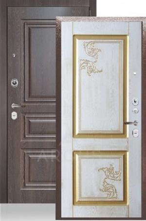 Сейф-дверь «ДА-28» 2П Флавия белое дерево/МДФ скиф шоколад