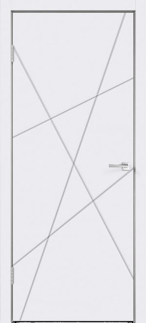 Дверь Сканди S глухая эмаль белая с зарезкой под замок Морелли WC