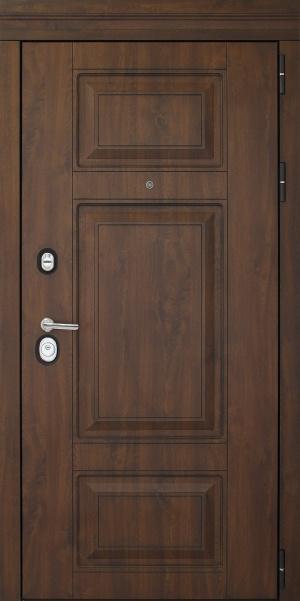 Входная дверь Порта темный орех/патина