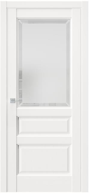 Дверь Триумф СNR8 эмалит ст.матовое гравировка