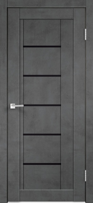 Дверь НЕКСТ 3 муар ст. лакобель черное