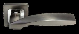 Дверная ручка MORELLI DIY MH-45 GR/CP-S55 Цвет - графит/полированный хром