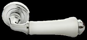 Дверная ручка MORELLI MH-41-CLASSIC PC/W Цвет - хром/белый