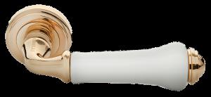 Дверная ручка MORELLI MH-41-CLASSIC PG/W Цвет - золото/белый