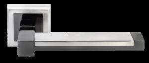 Дверная ручка MORELLI DIY MH-39 SN/BN-S Sanibell Цвет – Белый никель/черный никель