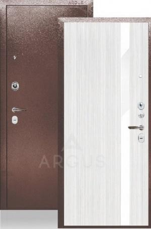 Сейф-дверь «ДА-25» Соло белый ясень/стекло белое