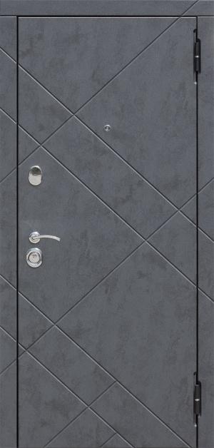 Сейф-дверь Бруклин 3К МДФ/МДФ бетон пепельный