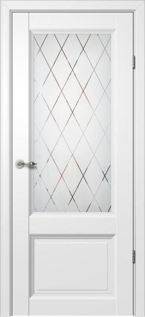 Дверь Глория 406 ст. гравировка Ромб