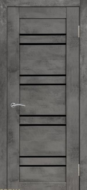 Дверь ЦДО 014 бетон темный ст. черное
