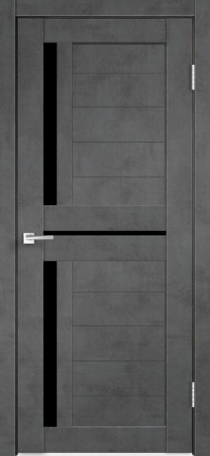Дверь ЦДО 09 бетон темный ст. черное