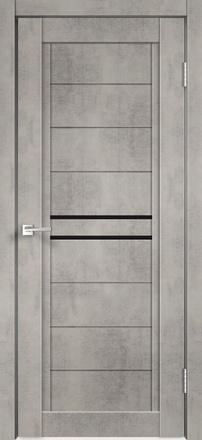 Дверь НЕКСТ 2 муар ст. лакобель черное