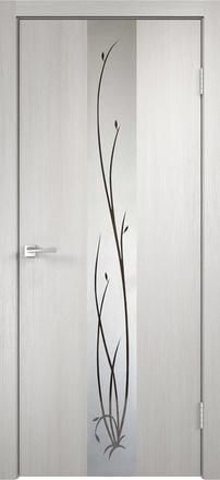 Дверь Смарт Z2 дуб беленый ст. зеркало Ветка