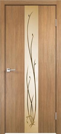 Дверь Смарт Z2 дуб золотой ст. бронза Ветка