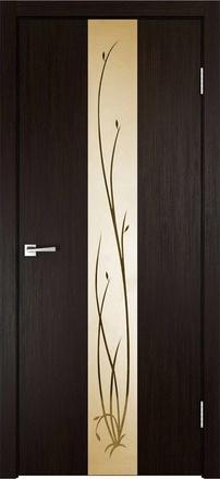 Дверь Смарт Z2 венге ст. бронза Ветка