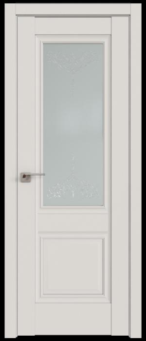 Дверь 2.37U дарк вайт ст. Франческа кристалл